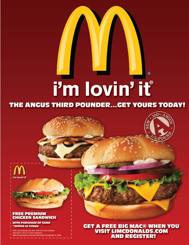 mcdonalds advertising Mcdonald's has been told to change its advertising to focus on the food and not its happy meal toys to ensure its ads don't have the potential to enhance the appeal.
